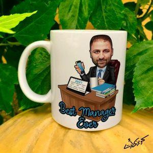 Mug caricature best managerمج كاريكاتير