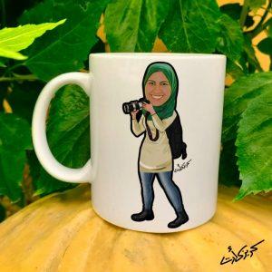 Mug caricature photographer مج كاريكاتير