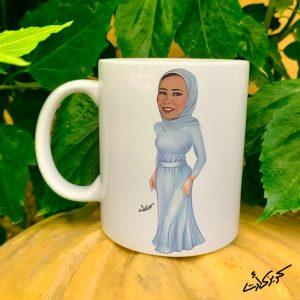 Mug caricature bride مج كاريكاتير