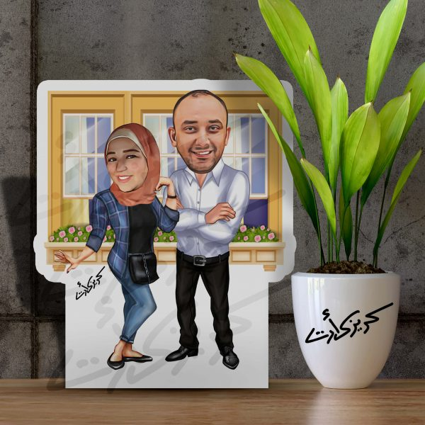 Caricature Photo Stand together ماكت