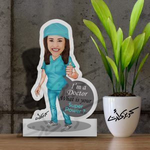 Caricature Photo Stand i'm a doctor ماكت