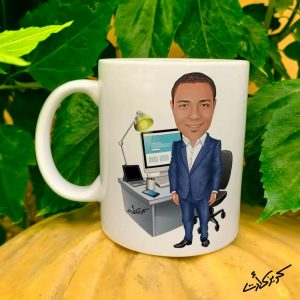 Mug caricature مج كاريكاتير موظف