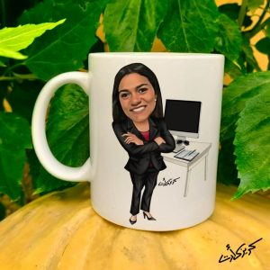 Mug caricature مج كاريكاتير موظفة