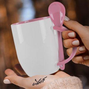 Customized Rose mug with spoon