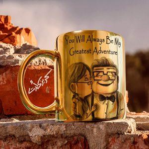 Golden glossy mug up مج دهبى