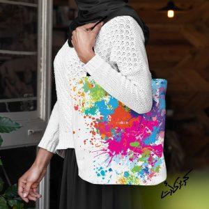 Shoulder bag شنطة كتف ألوان مائية