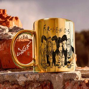 Golden glossy mug f.r.i.e.n.d.s مج دهبى
