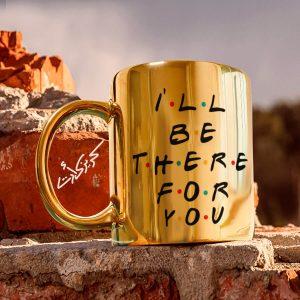 Golden glossy mug for you مج دهبى