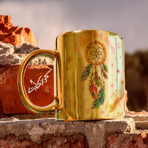 Golden glossy mug دريم كاتشر
