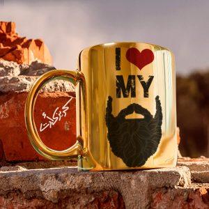 Golden glossy mug my مج دهبى