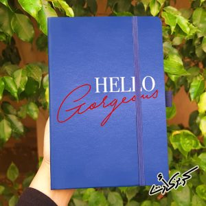 Leather Cover Notebook hello